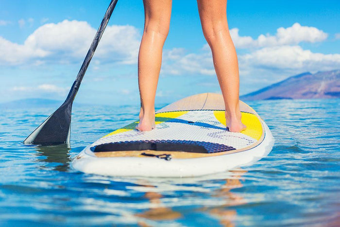 Stand Up Paddle Surfing In Hawaii Wall Mural Wallpaper
