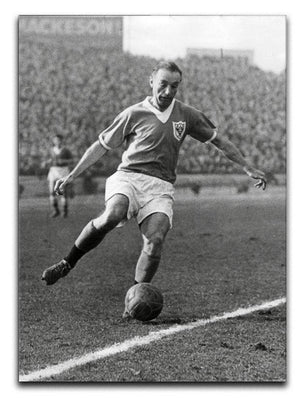 Stanley Matthews playing football Canvas Print or Poster  - Canvas Art Rocks - 1