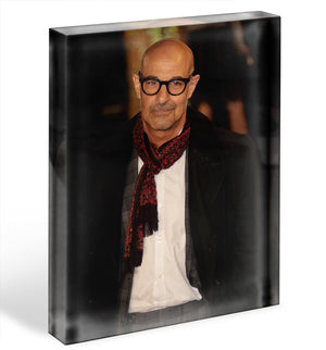 Stanley Tucci Acrylic Block - Canvas Art Rocks - 1