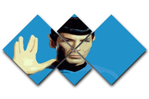 Star Trek Mr Spock 4 Square Multi Panel Canvas  - Canvas Art Rocks - 1