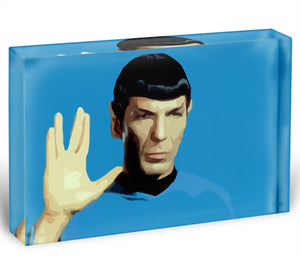 Star Trek Mr Spock Acrylic Block - Canvas Art Rocks - 1