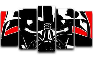 Star Wars Inspired Darth Vader Redback 5 Split Panel Canvas  - Canvas Art Rocks - 1