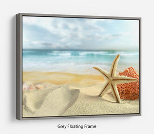 Starfish Floating Frame Canvas - Canvas Art Rocks - 3