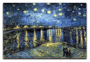 Starry Night over the Rhone Canvas Print or Poster  - Canvas Art Rocks - 1