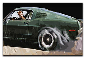 Steve McQueen Bullitt Reverse Canvas Print or Poster  - Canvas Art Rocks - 1