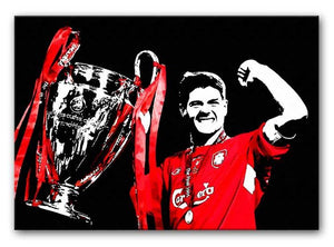 Steven Gerrard Champions League Print - Canvas Art Rocks - 1
