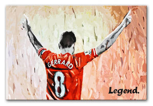 Steven Gerrard Legend Print - Canvas Art Rocks - 1