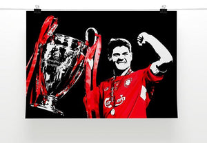 Steven Gerrard Champions League Print - Canvas Art Rocks - 2