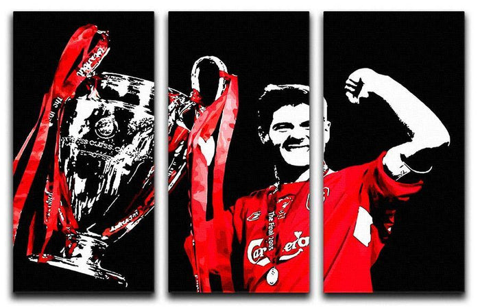 Steven Gerrard Champions League 3 Split Panel Canvas Print
