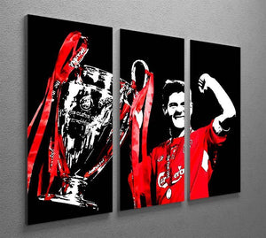 Steven Gerrard Champions League 3 Split Panel Canvas Print - Canvas Art Rocks - 2