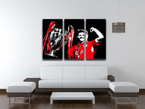 Steven Gerrard Champions League 3 Split Panel Canvas Print - Canvas Art Rocks - 3