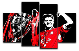 Steven Gerrard Champions League 4 Split Panel Canvas  - Canvas Art Rocks - 1