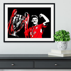 Steven Gerrard Champions League Framed Print - Canvas Art Rocks - 1