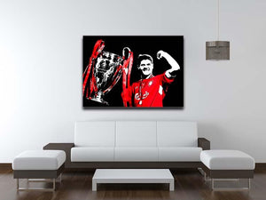 Steven Gerrard Champions League Canvas Print or Poster