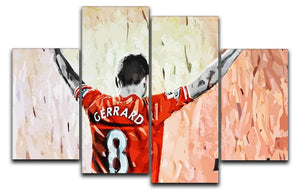 Steven Gerrard Legend 4 Split Panel Canvas  - Canvas Art Rocks - 1