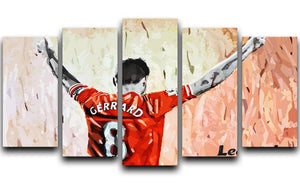 Steven Gerrard Legend 5 Split Panel Canvas  - Canvas Art Rocks - 1