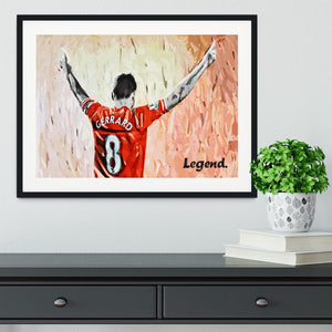 Steven Gerrard Legend Framed Print - Canvas Art Rocks - 1