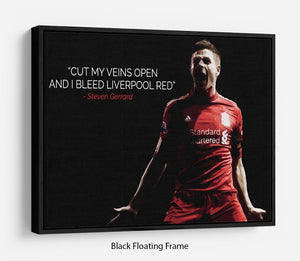 Steven Gerrard Liverpool Red Floating Frame Canvas