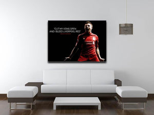 Steven Gerrard Liverpool Red Canvas Print & Poster - Canvas Art Rocks