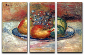 Still Life 1 by Renoir 3 Split Panel Canvas Print - Canvas Art Rocks - 1