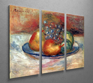 Still Life 1 by Renoir 3 Split Panel Canvas Print - Canvas Art Rocks - 2
