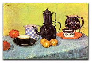 Still Life Blue Enamel Coffeepot Earthenware and Fruit by Van Gogh Canvas Print & Poster  - Canvas Art Rocks - 1