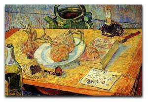 Still Life Drawing Board Pipe Onions and Sealing-Wax by Van Gogh Canvas Print & Poster  - Canvas Art Rocks - 1