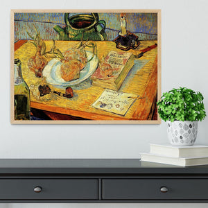Still Life Drawing Board Pipe Onions and Sealing-Wax by Van Gogh Framed Print - Canvas Art Rocks - 4