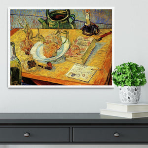 Still Life Drawing Board Pipe Onions and Sealing-Wax by Van Gogh Framed Print - Canvas Art Rocks -6