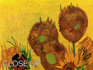 Still Life Vase with Fifteen Sunflowers by Van Gogh 3 Split Panel Canvas Print - Canvas Art Rocks - 3