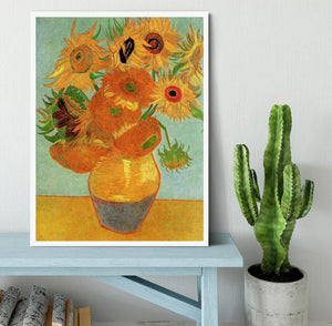 Still Life Vase with Twelve Sunflowers by Van Gogh Framed Print - Canvas Art Rocks -6