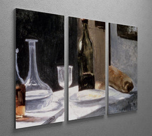 Still Life With Bottles by Monet Split Panel Canvas Print - Canvas Art Rocks - 4