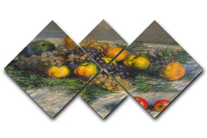 Still Life by Monet 4 Square Multi Panel Canvas  - Canvas Art Rocks - 1