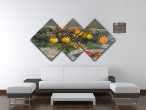Still Life by Monet 4 Square Multi Panel Canvas - Canvas Art Rocks - 3