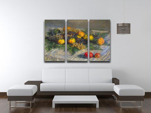 Still Life by Monet Split Panel Canvas Print - Canvas Art Rocks - 4