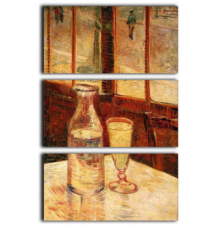 Still Life with Absinthe by Van Gogh 3 Split Panel Canvas Print