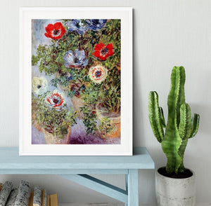 Still Life with Anemones by Monet Framed Print - Canvas Art Rocks - 5