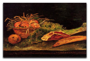 Still Life with Apples Meat and a Roll by Van Gogh Canvas Print & Poster  - Canvas Art Rocks - 1