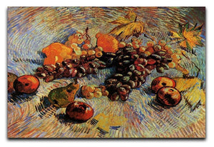 Still Life with Apples Pears Lemons and Grapes by Van Gogh Canvas Print & Poster  - Canvas Art Rocks - 1