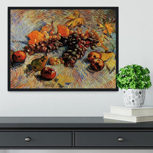 Still Life with Apples Pears Lemons and Grapes by Van Gogh Framed Print - Canvas Art Rocks - 2