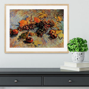 Still Life with Apples Pears Lemons and Grapes by Van Gogh Framed Print - Canvas Art Rocks - 3