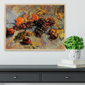 Still Life with Apples Pears Lemons and Grapes by Van Gogh Framed Print - Canvas Art Rocks - 4