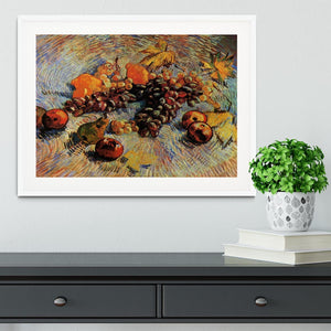 Still Life with Apples Pears Lemons and Grapes by Van Gogh Framed Print - Canvas Art Rocks - 5