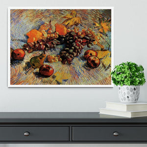 Still Life with Apples Pears Lemons and Grapes by Van Gogh Framed Print - Canvas Art Rocks -6
