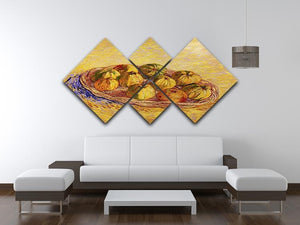 Still Life with Basket of Apples by Van Gogh 4 Square Multi Panel Canvas - Canvas Art Rocks - 3