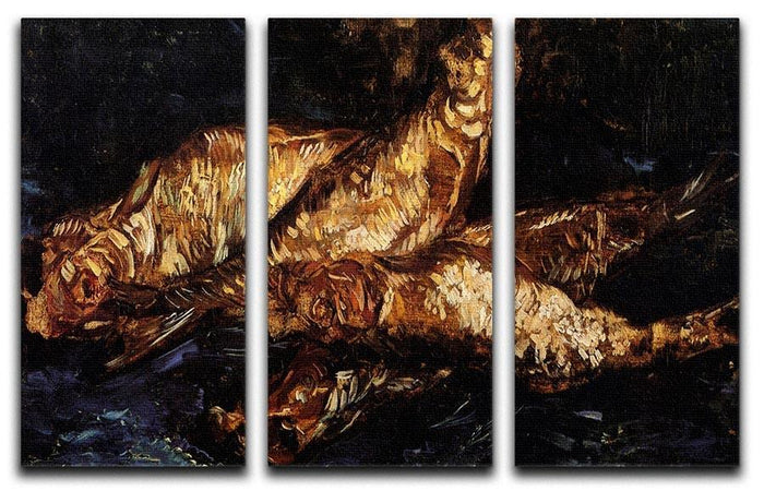 Still Life with Bloaters by Van Gogh 3 Split Panel Canvas Print