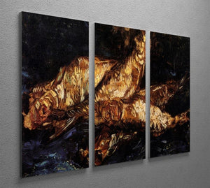 Still Life with Bloaters by Van Gogh 3 Split Panel Canvas Print - Canvas Art Rocks - 4