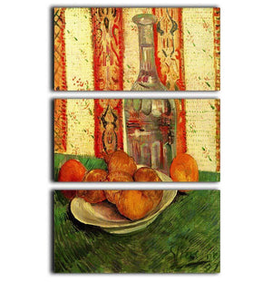 Still Life with Decanter and Lemons on a Plate by Van Gogh 3 Split Panel Canvas Print - Canvas Art Rocks - 1