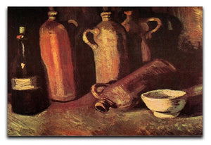 Still Life with Four Stone Bottles Flask and White Cup by Van Gogh Canvas Print & Poster  - Canvas Art Rocks - 1