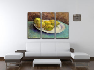 Still Life with Lemons on a Plate by Van Gogh 3 Split Panel Canvas Print - Canvas Art Rocks - 4